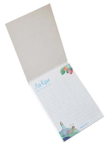 блокноты с логотипом компании
