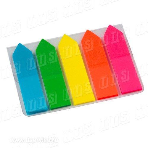 Самоклеящиеся закладки 12х50 мм из цветной пленки по 25 листов