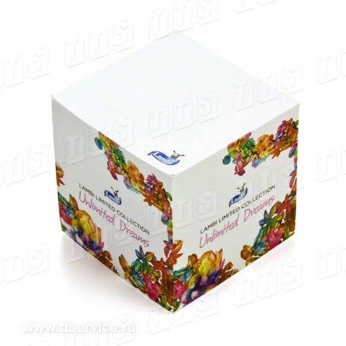 Куб с полноцветным изображением на торцах
