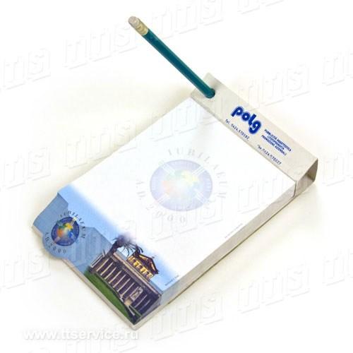Блок в обложке-трансформере с отверстием для ручки