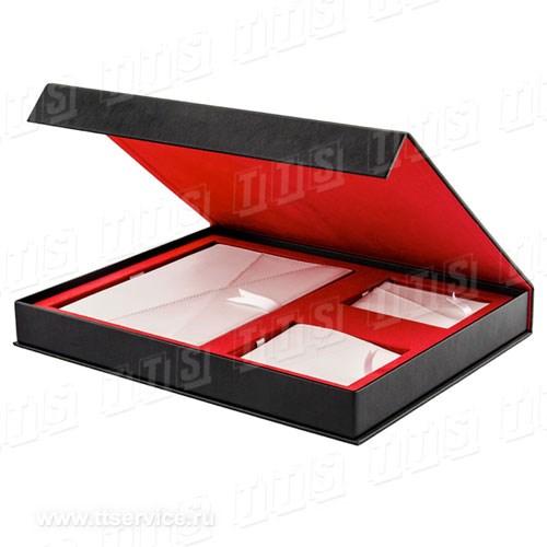 Кожаный набор: ежедневник, портмоне и визитница (Арт. 2610)