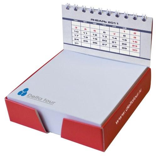 Блок 9х9 см, 250 л., бокс со спинкой-календарем, навивка