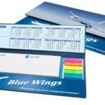 Настольный набор в кашированной обложке с блоками и календарем